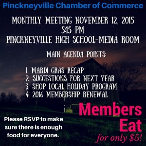 November Meeting Reminder