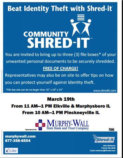 Murphy Wall Shredding event