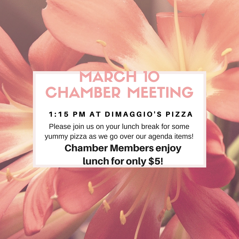 March 10Chamber Meeting